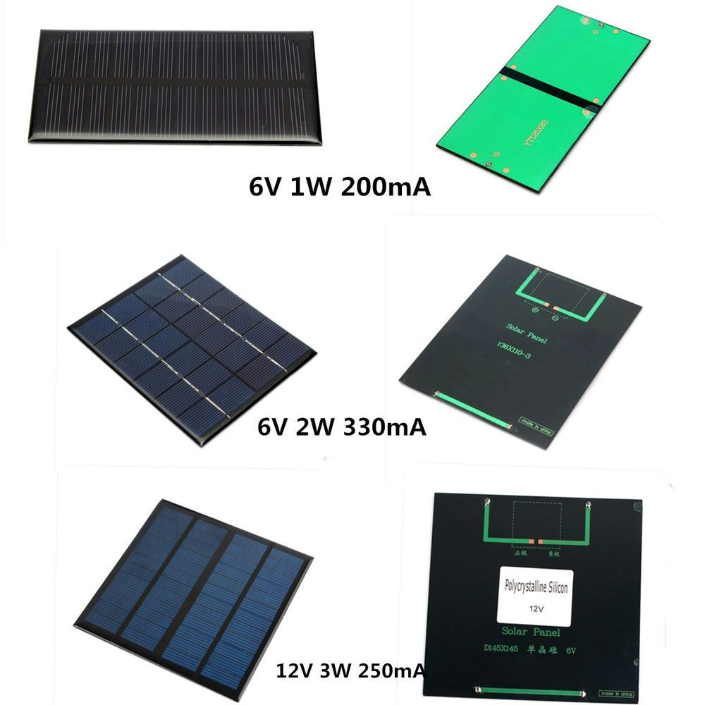 6v 12v 1w 2w 3w Diy Solar Panel Module For Light Battery Cell Phone Charger Diy Solar Panel Cell Phone Charger Solar Panels