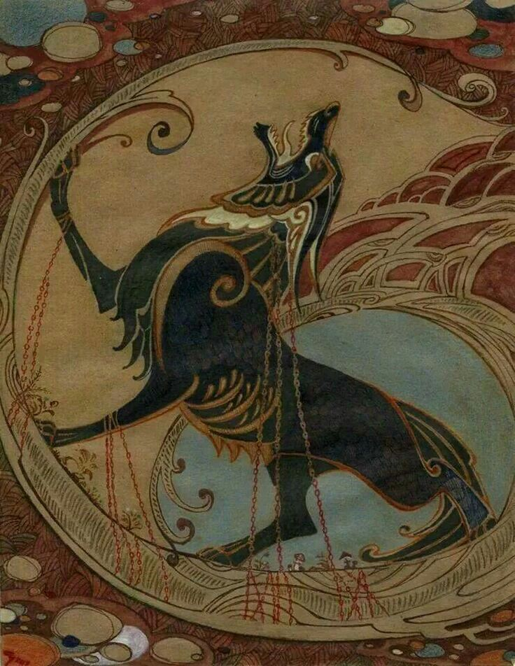b5f7853dd4e80 Fenrir ¤ is a monstrous wolf in Norse mythology | Germanic & Nordic ...