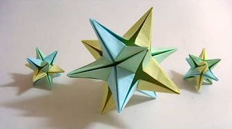 Origami Revealed Flower Popup Star Youtube Origami