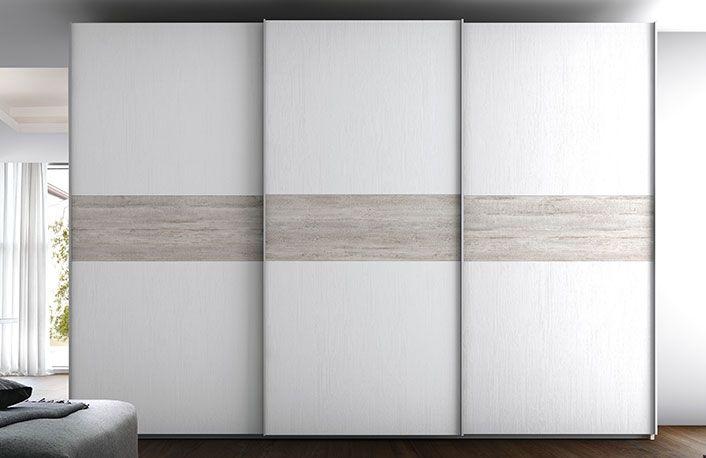 precio razonable sitio web profesional unos dias Armario 3 puertas correderas blanco rustico   vestidor en ...
