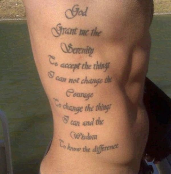 Shoulder Tattoo Quote Ribcage Serenity Prayer: Serenity Prayer Rib Tattoo: I Think This Will Be My Next