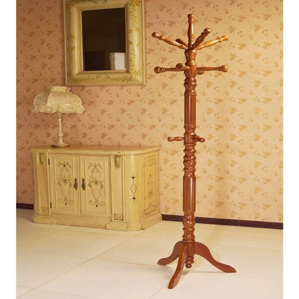 Homecraft Furniture Oak 12 Hook Coat Rack Jw302 O Wooden Coat Rack Standing Coat Rack Home Crafts