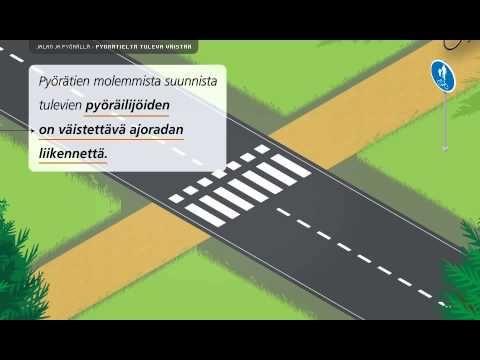 Liikenneturva - Jalan ja pyörällä, pyörätieltä tuleva väistää - YouTube
