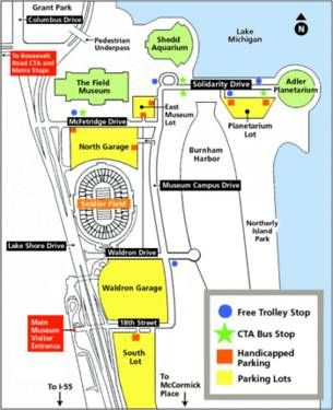 Free Parking Chicago Map.Bears Parking Passes All 10 Home Games South Lot Best