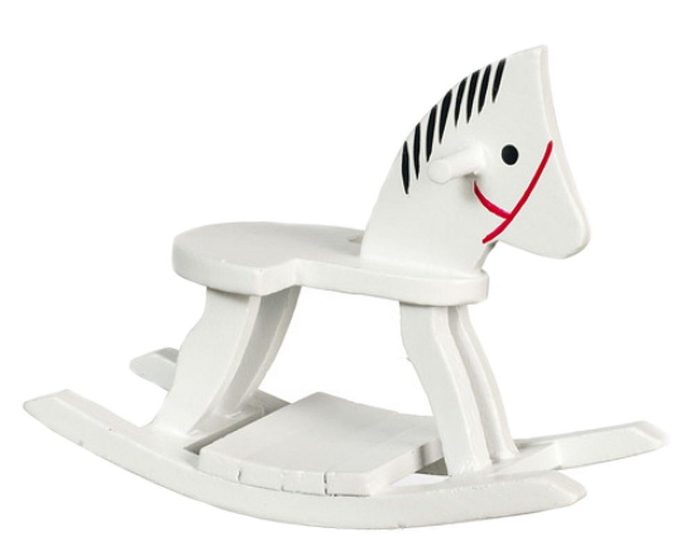 1:12 Dollhouse Miniature Furniture Children Room Wooden Horse Rocking Chair