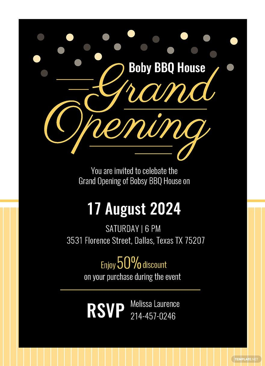 Instantly Download Free Grand Opening Invitation Card Template Sample Example In Micros Grand Opening Invitations Shop Opening Invitation Card Grand Opening Free grand opening flyer template