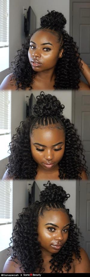 Look At Our Girl Tianaawoah Slays Freetress Synthetic Hair Crochet Braids Beach Curl 12 Blackgirlhair Hair Braid Diy Braids For Long Hair Black Hair Curls
