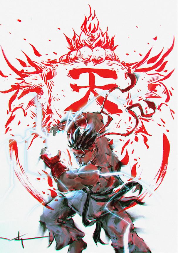 Artstation Shinku Hadoken Warrick Wong Street Fighter Art