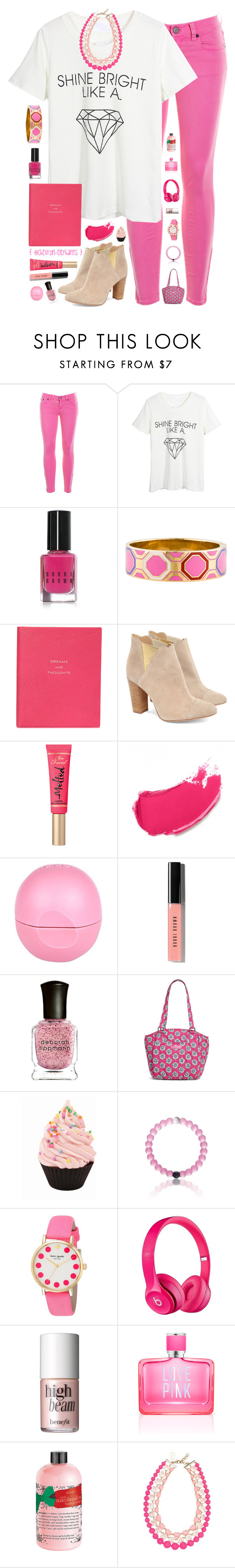 """""""The Day The Crayons Quit // The Day The Crayons Came Home"""" by chevron-elephants ❤ liked on Polyvore featuring J.Crew, WithChic, Bobbi Brown Cosmetics, Kate Spade, Smythson, Cleo B, tarte, River Island, Deborah Lippmann and Vera Bradley"""