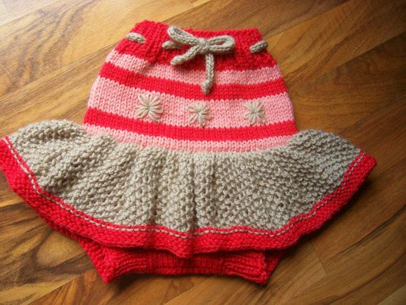 Knitted Wool Cloth Diaper Cover Skirt Soaker Wool Nappy Cover Baby