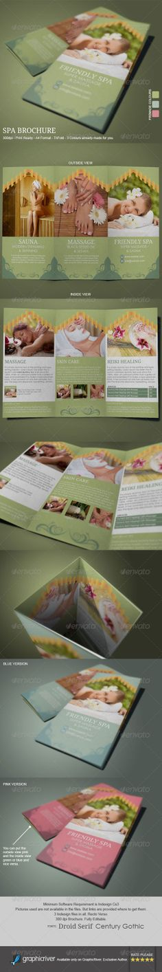 Spa Brochure Template Brochure template, Brochures and Spa - spa brochure template