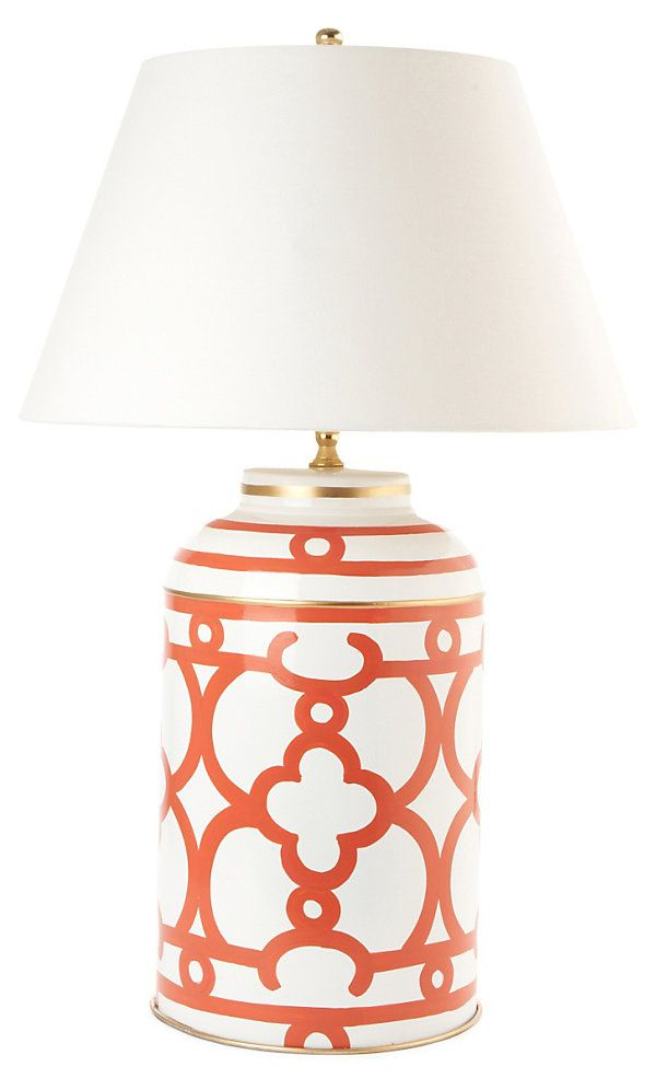One Kings Lane   Dana Gibson   Ming Tea Caddy Lamp, Orange