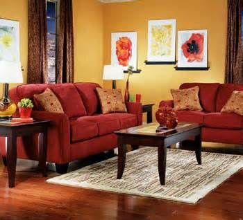 yellow walls red couch - Bing Images