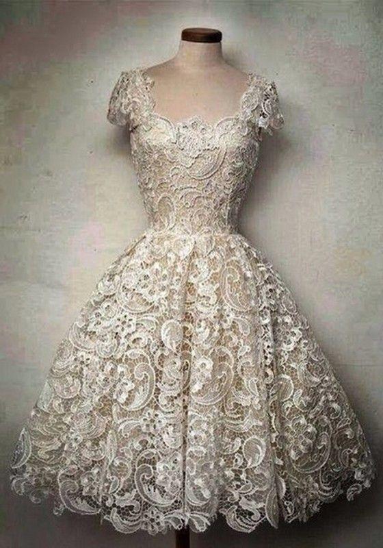 Short white dresses vintage