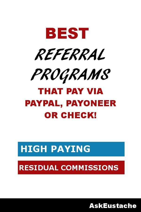 Best Referral Programs That Pay Real Cash Via PayPal or