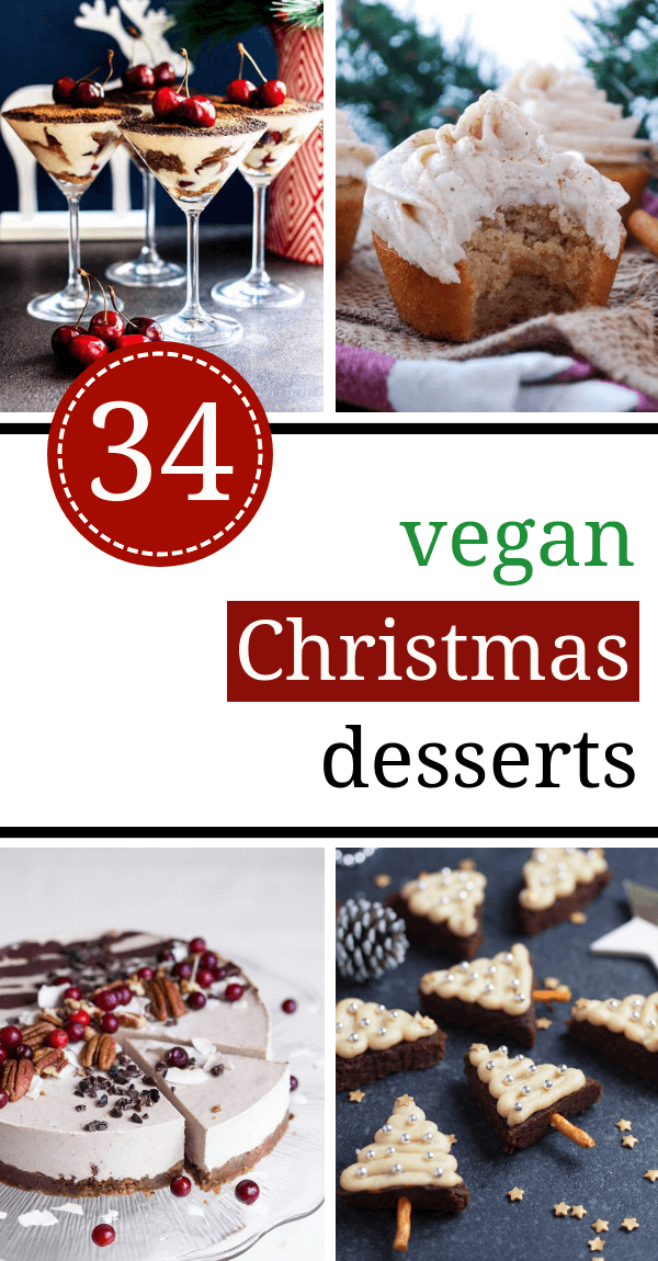The Best 34 Vegan Christmas Desserts & Treats (Egg-free, Dairy-free) #dairyfree