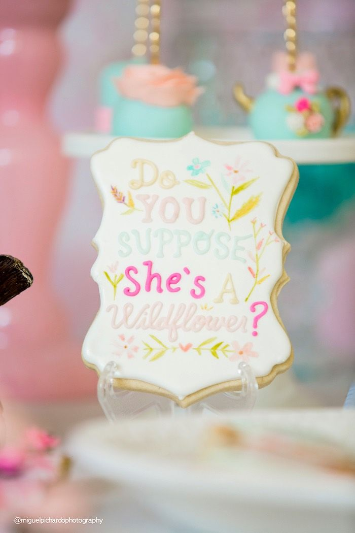 Alice in Wonderland sugar cookie from a