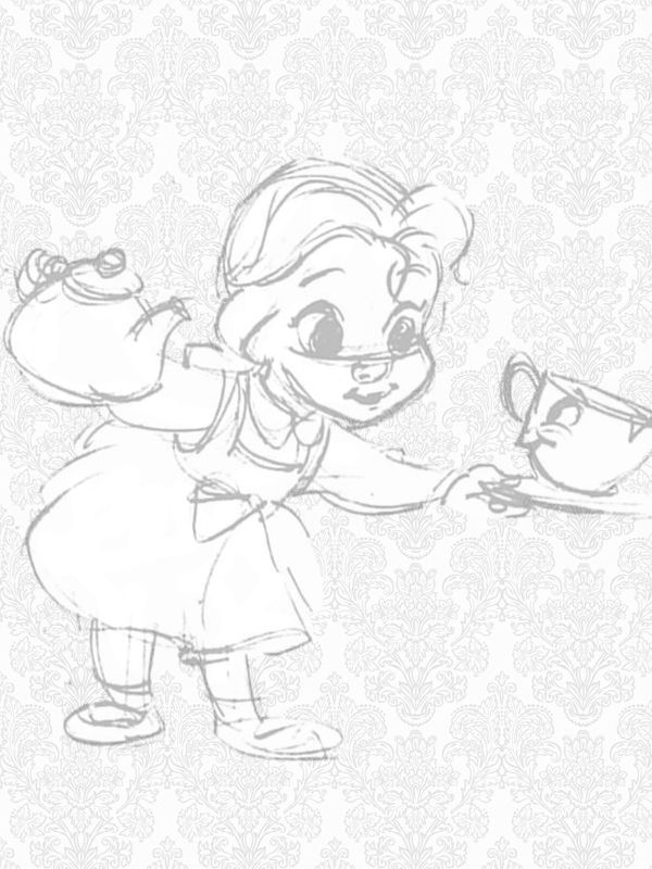 Tinkeperi Disney Store Animators Collection Drawings