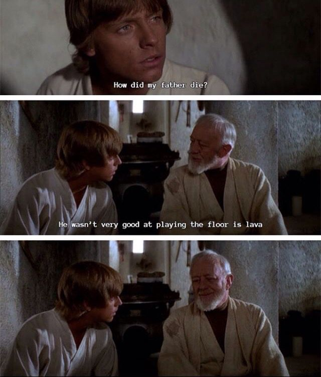 """And Luke is like """"????? Guess you really are the crazy old man of the desert. """""""
