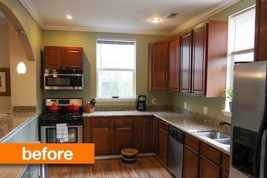 Before After A Mini Kitchen Makeover On The Cheap Remodel Small Cabinet