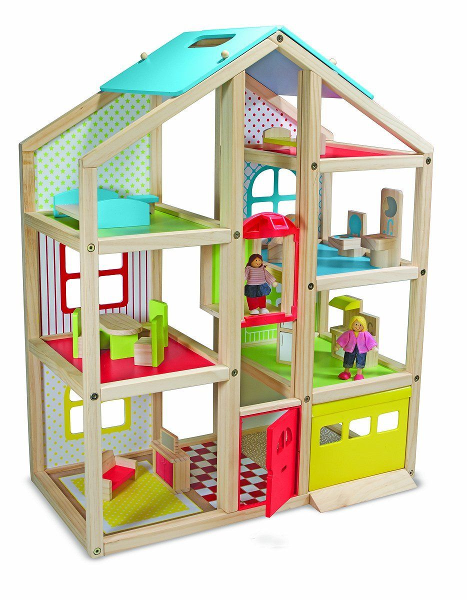 Melissa and Doug Hi-Rise Dollhouse with Elevator 561756bea406