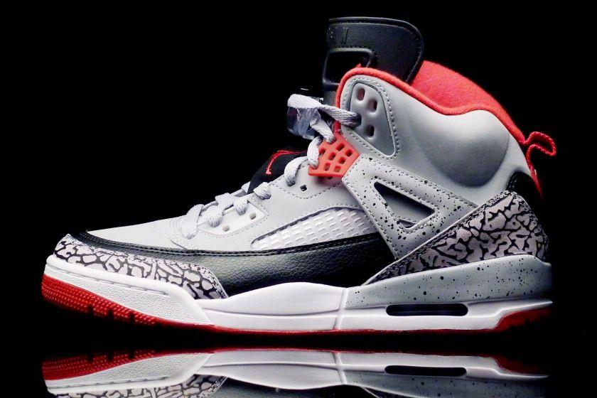 Nike Air Jordan Spizike Wolf Grey - Gym Red