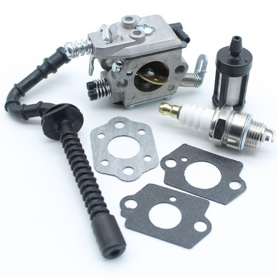Carburetor Carb Gasket Fuel Hose Tube Filter Spark Plug For Stihl