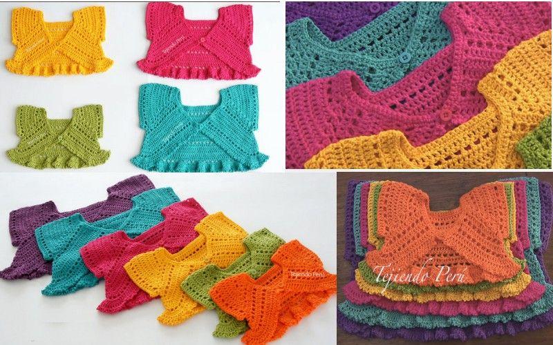 Bolero mariposa para niñas | Baby | Pinterest | Boleros, Mariposas y ...
