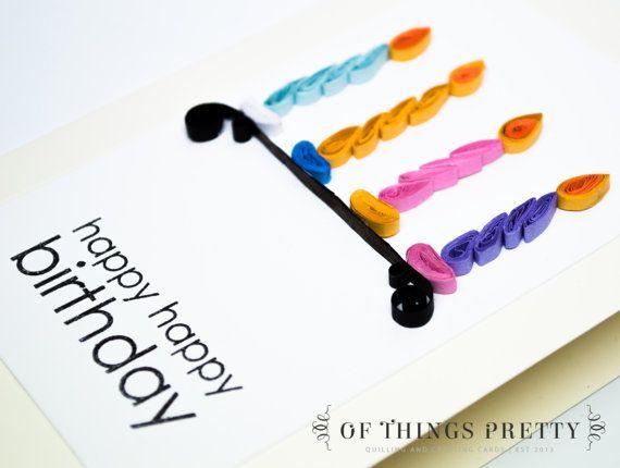 Birthday Card  Birthday Candles Card  Handmade by ofthingspretty, $8.00