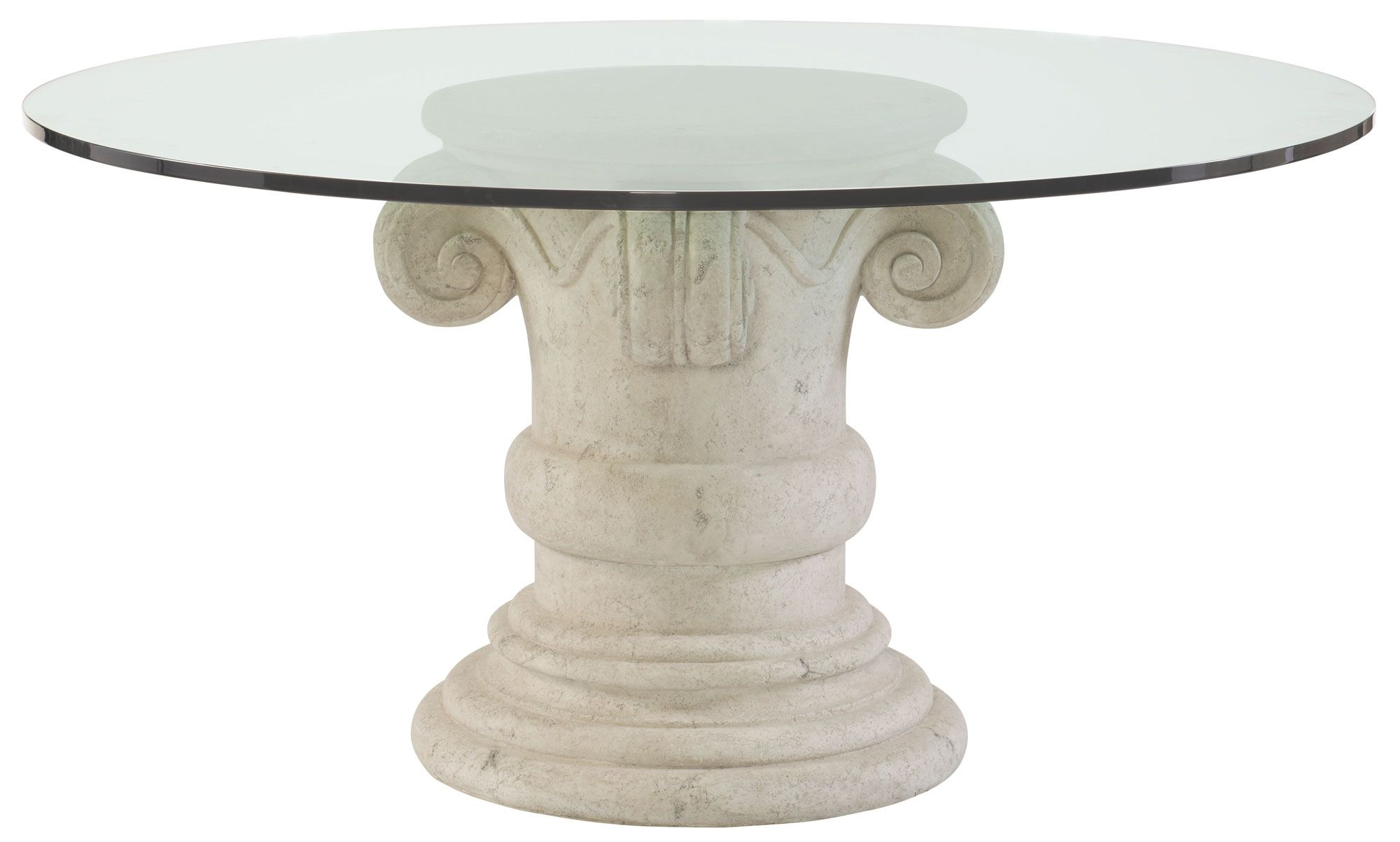 Round Dining Table Glass Top And Pedestal Base Bernhardt - Round kitchen table pedestal base