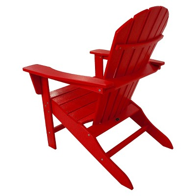 Polywood South Beach Patio Adirondack Chair Red Beach