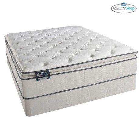 Simmons Beautysleep Russian Hill Plush Pillow Top Mattress Box