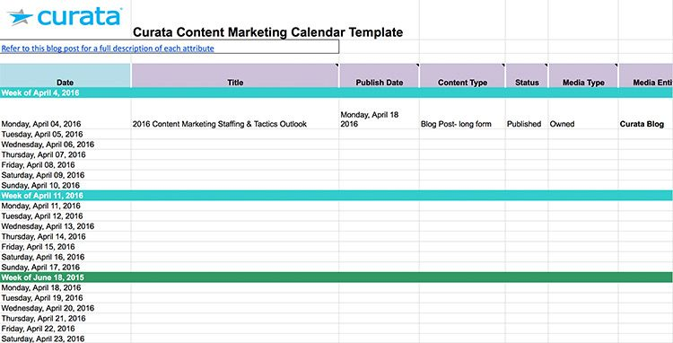 Monthly Marketing Metrics Calendar Template For Excel Free