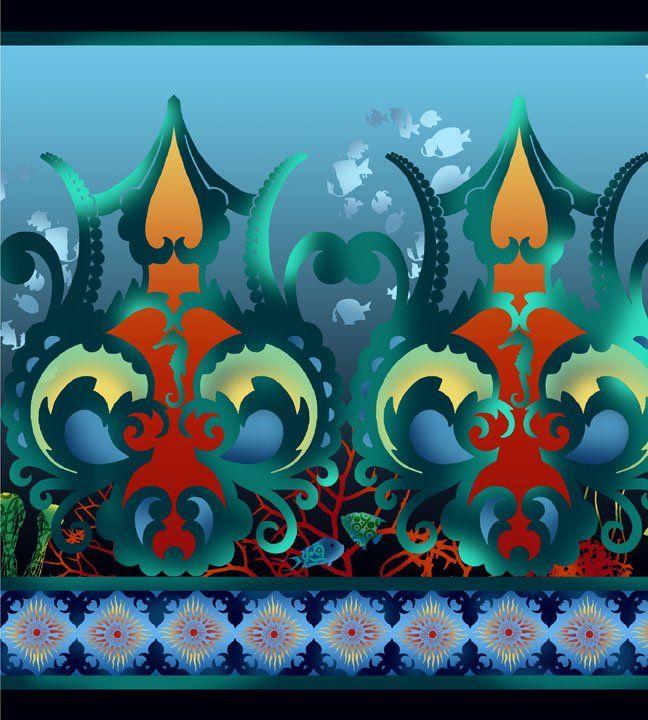 Return to Atlantis II, by In The Beginning fabrics.
