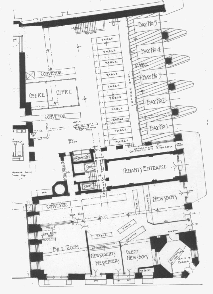 Plan The Lighthouse Art Nouveau Architecture Architecture Drawing Glasgow