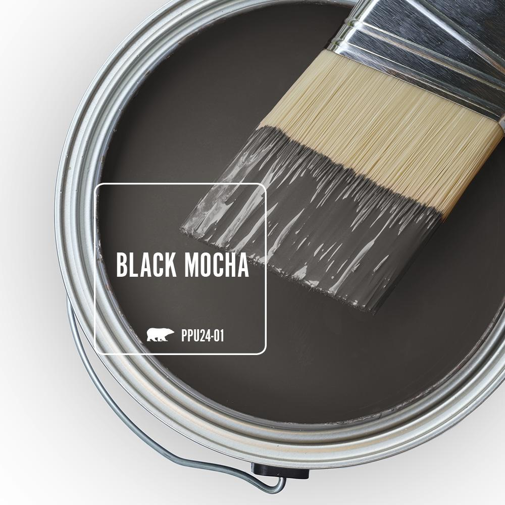 Behr Ultra 1 Gal Ppu24 01 Black Mocha Satin Enamel Exterior Paint And Primer In One 985301 The Home Depot In 2021 Paint Colors For Home Interior Paint Exterior Paint