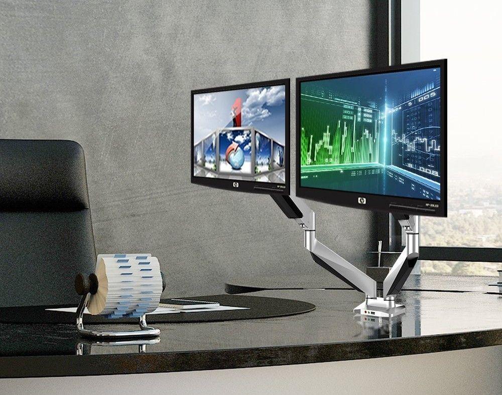 Computer Monitor Desk Mount Modern Desk Diy Monitor Desk Mount