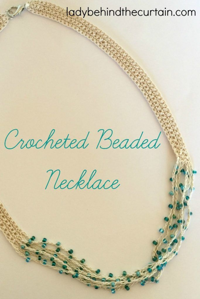 Crocheted Beaded Necklace Pattern | Crochet, Patterns and Free crochet