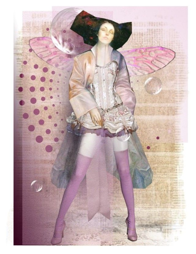 """""""fairy with attitude"""" by theamaia ❤ liked on Polyvore featuring art"""
