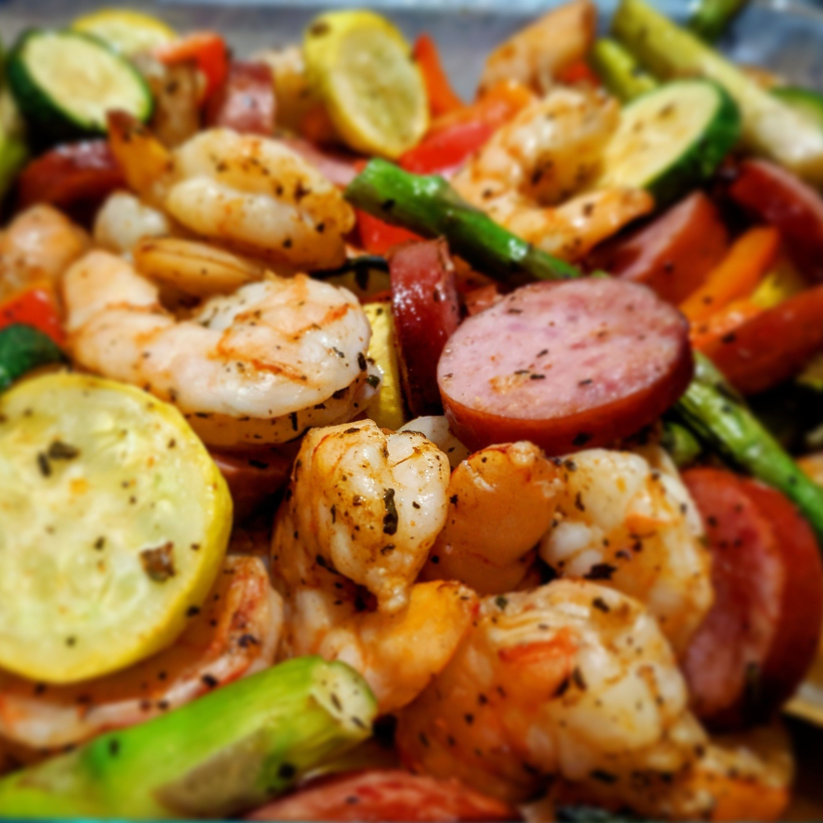 Healthy Air Fryer Keto & Gluten Free Old Bay Shrimp