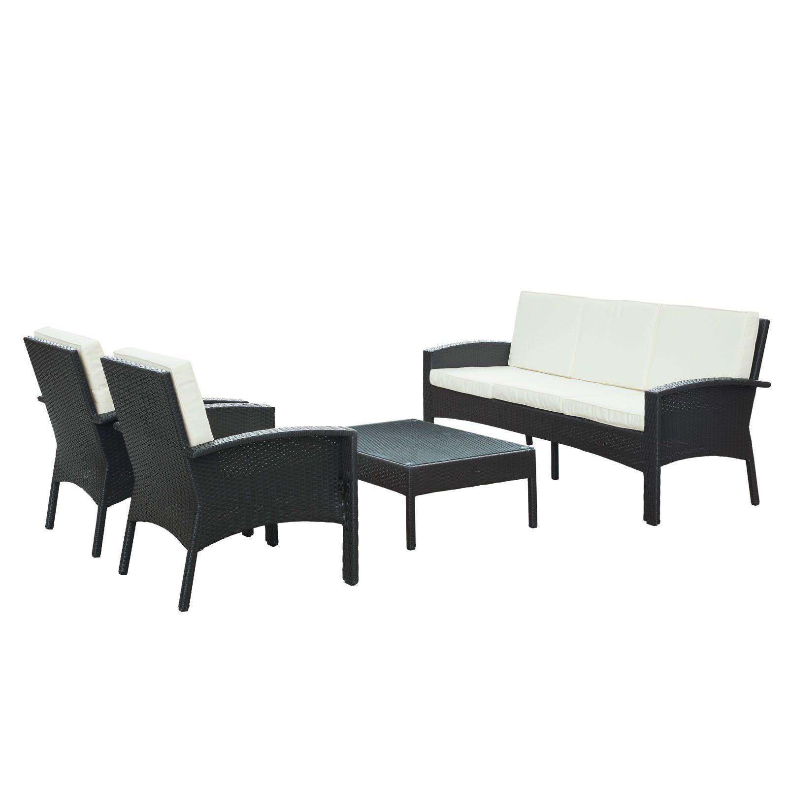 Brook 4 Piece Outdoor Patio Sofa Set