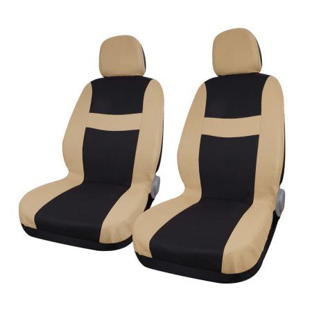 Astounding 8 Piece Beige Black Car Seat Covers With Headrest For Auto Caraccident5 Cool Chair Designs And Ideas Caraccident5Info