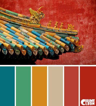 Color Palette Brick Red Beige Blue Blue Colour Palette Colour Architecture Red Colour Palette