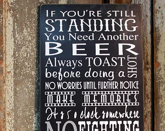 Man Cave Rules : Personalized bar rules sign man cave by madikaydesigns deco