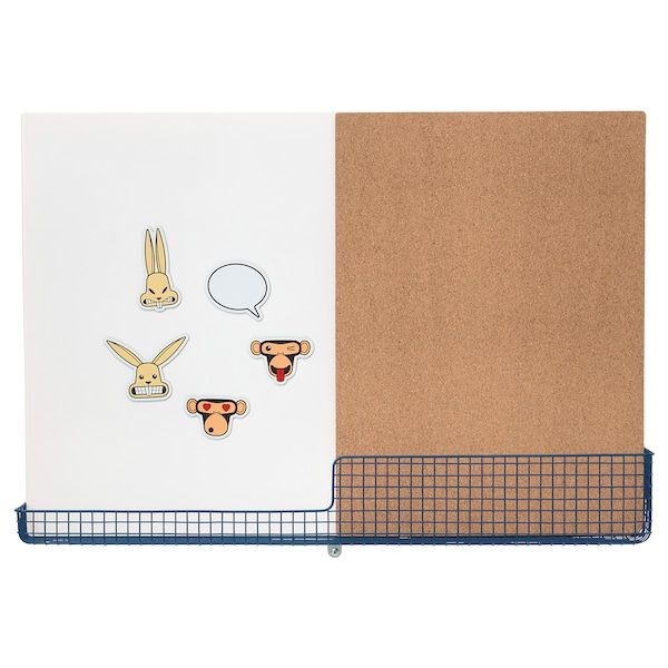 Mojlighet Tableau D Affichage Avec Panier Blanc Bleu 71x49 Cm Ikea Tableau Affichage Tableau Blanc Magnetique Panier Blanc