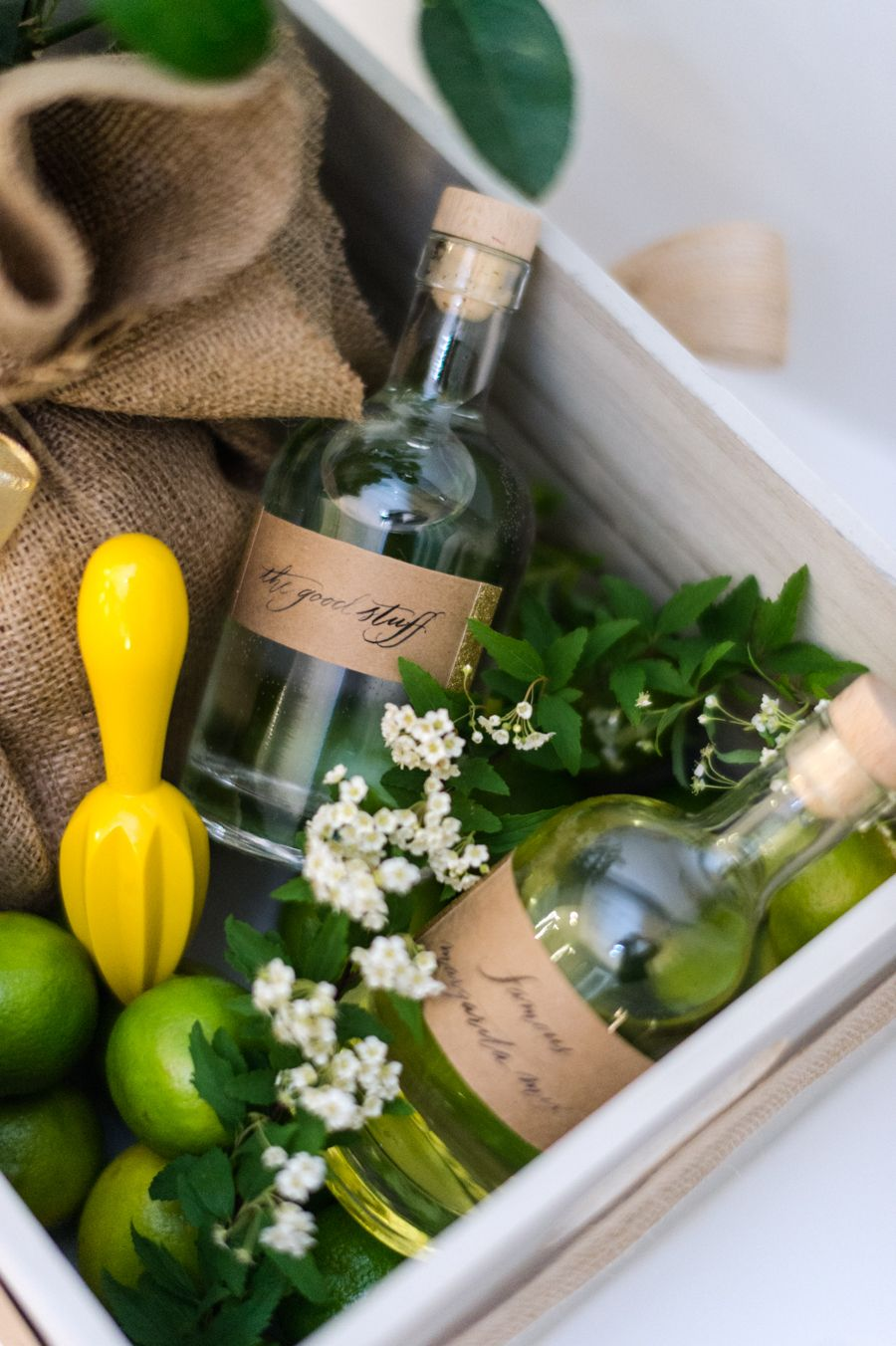 Diy margarita gift crate diy wine gift baskets gift