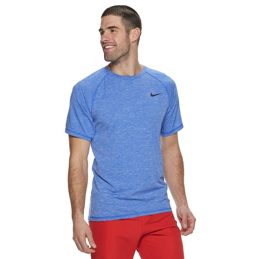 0c95bd201 Men's Nike Dri-Fit Heathered Hydroguard Swim Tee, Size: Medium, Blue ...