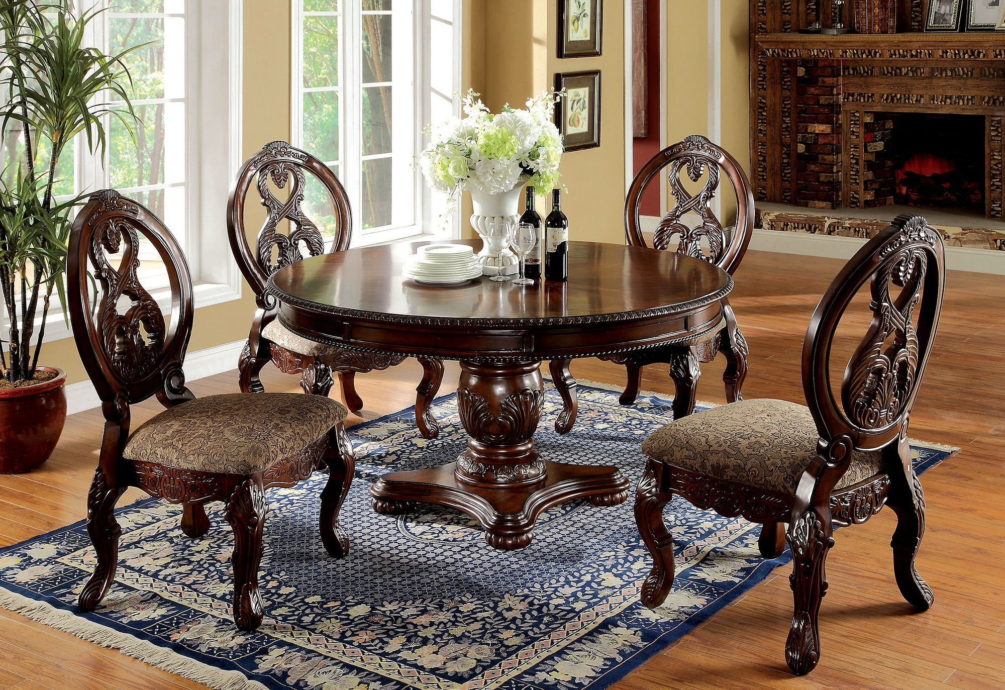 Hohenzollern Solid Wood Dining Table Round Dining Room Sets Traditional Dining Room Table Traditional Dining Room Sets