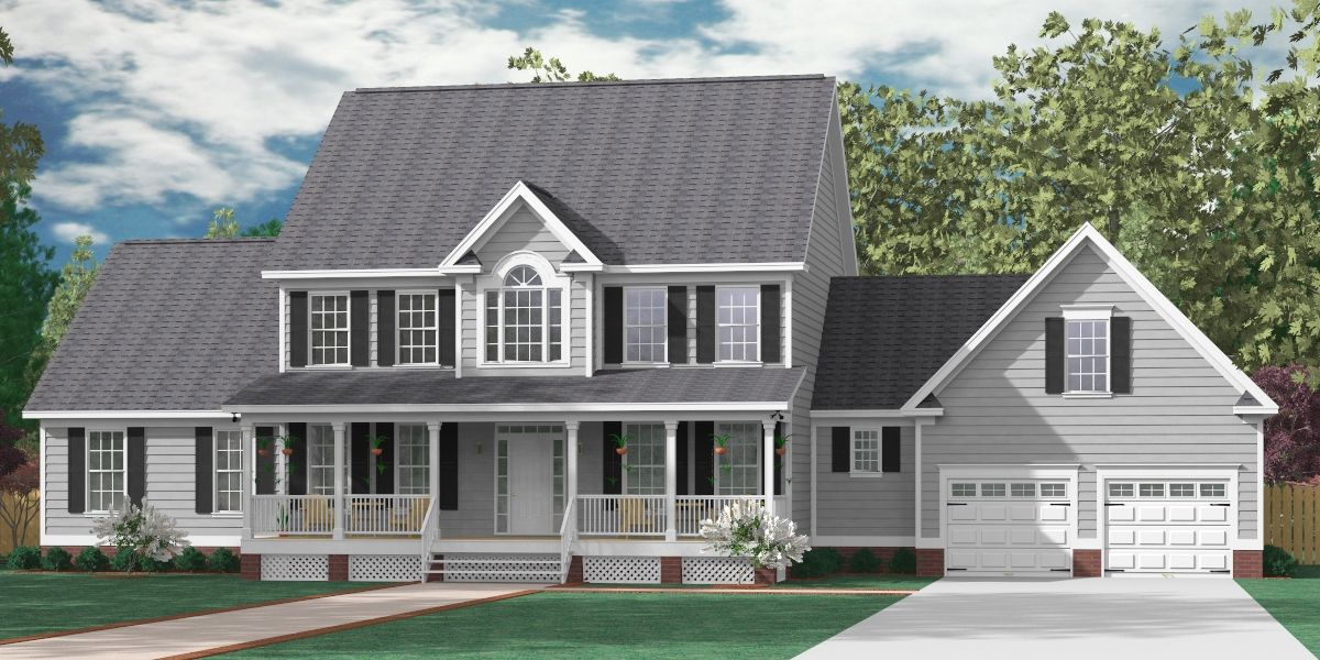 "House Plan 3397A The ALBANY ""A"" elevation 3397 Square"