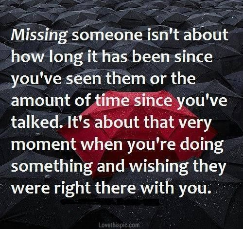 Sad love quotes about missing someone